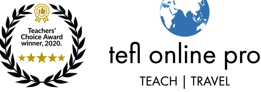 TEFL Online Pro | Teachers' Choice Award, 2020.