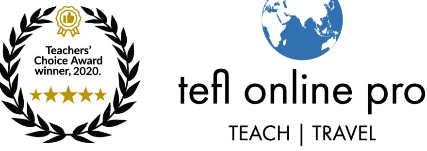 TEFL Online Pro | Teachers' Choice Award, 2020.