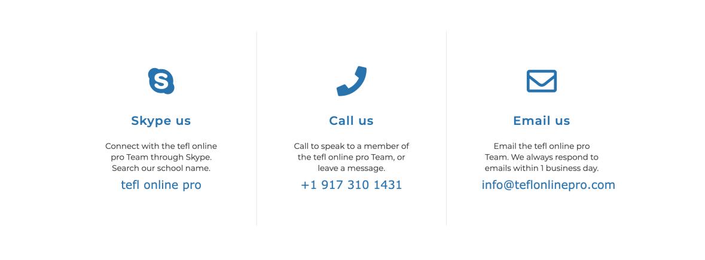 Contact TEFL Online Pro TESOL